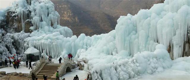 满城|龙居瀑布 冰雪之旅,美丽冻人